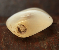 Ancient Banded Chalcedony Bead - 26 mm