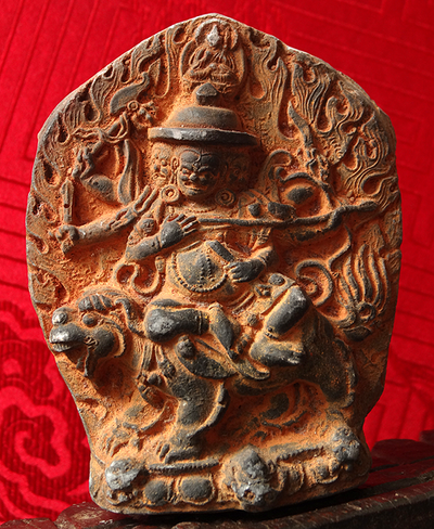 Antique Six Armed Dorje Lekpa Tsa Tsa