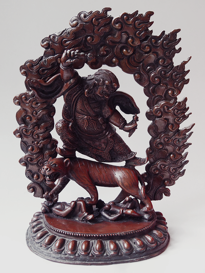 Dorje Drollo Statue - Copper Lost Wax - 8.5 inches