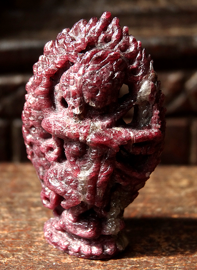 Rare Tourmaline Kurukullā Gemstone Carving
