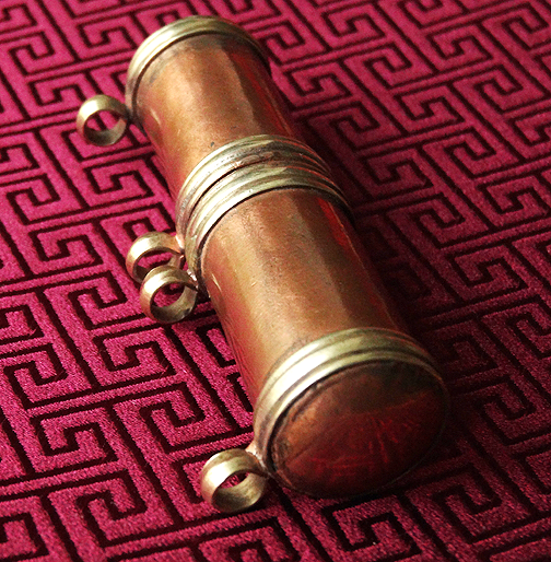 Antique Style Copper Cylinder Scroll Gau