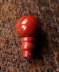 Red Jasper Guru Bead - 10 mm
