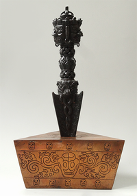 Engraved Copper Phurba Stand