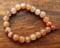 22 Antique Chin Carnelian Beads