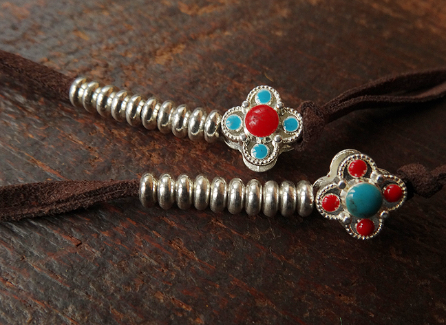 East Tibet Style Silver Mala Counters - Small Size