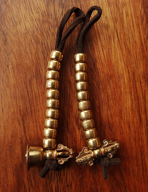 Large Brass Bell & Vajra Mala Counters