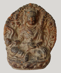 Large Antique Guru Rinpoche Tsa Tsa - 19th C - 5 inches
