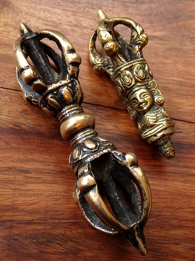 Antique Five Prong Bell Handle & Vajra- 18th/19th C