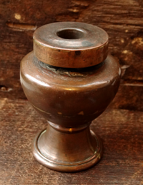 Antique Tibetan Copper Ink Pot - 19th C