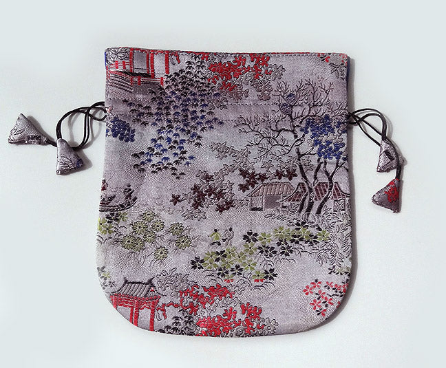 Finest Silk Mala Bag -  Chinese landscape