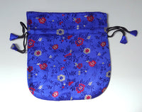 Finest Silk Mala Bag -  Blue Flowers