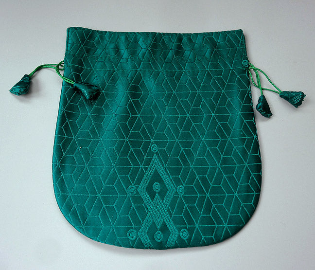 Finest Silk Mala Bag -  Green Matrix
