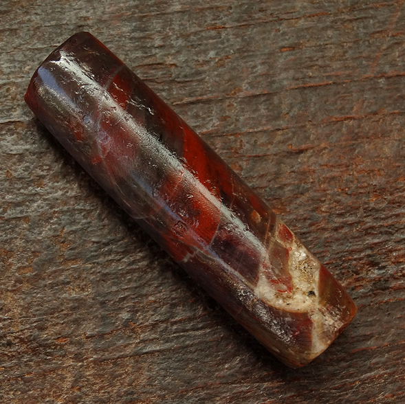 Large Ancient Pre-Columbian Tairona Culture Red Jasper Bead - 48.5 mm