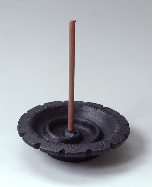 Black Ceramic Incense Holder - Fairtrade - Snake Design