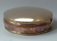Fine Copper & Brass Mandala Base - Hand Beaten