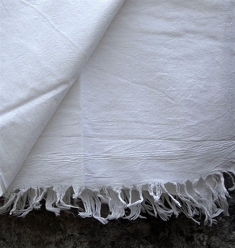 Pure Indian Cotton Yogi Shawl - Natural White