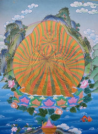 Guru Padmasambhava - Rainbow Body - Thangka