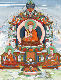 Jigten Sumgön Thangka - Fine Art Thangka Reproduction - by Flera Birmane
