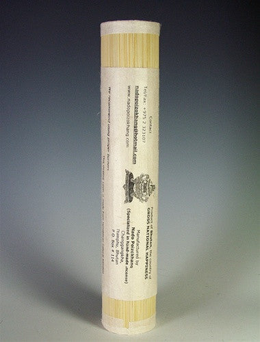 Happiness 'Grade A' - Nado Poizokhang Bhutanese Incense - Large Roll
