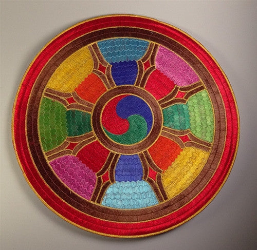 WHEEL OF JOY PUJA TABLE MAT or COVER
