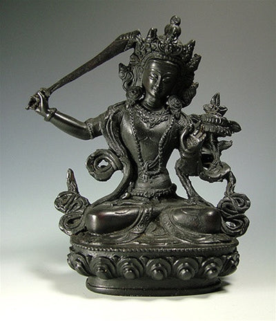 Manjushri Statue - Resin - 5 inches