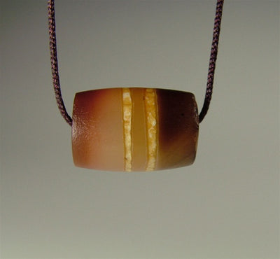 Ancient Decorated Carnelian Bead