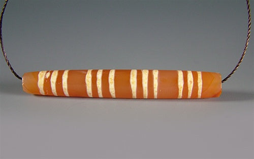 Ancient Decorated Carnelian with 12 stripes