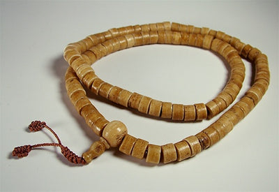 Disc Bead Bone Mala
