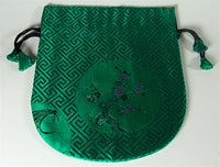 Finest Silk Mala Bag - Eternal Green