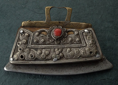 Antique East Tibetan Flint or Tinder Pouch (Chuckmuck or Mechag) - 18th/19th C