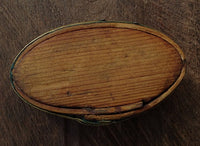 Antique Tibetan Wood & Bamboo Butter Container - 19th C