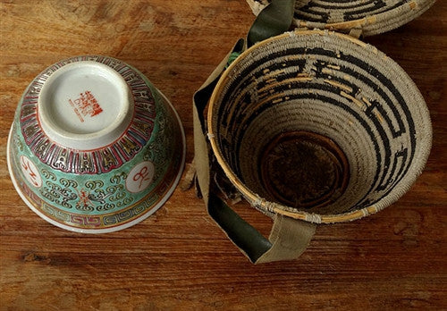 Antique Tibetan Bowl or Cup Case - Early 20th C