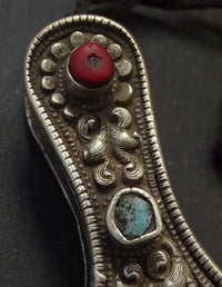Antique Tibetan Needle Case with inlay - 19th C