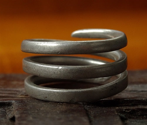 Antique Tibetan Silver Snake Ring  - 19th C