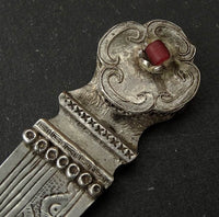 Antique Sino-Tibetan Silver Hair Ornament