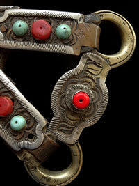 Antique Tibetan Horse Bridal Ornament - 19th C