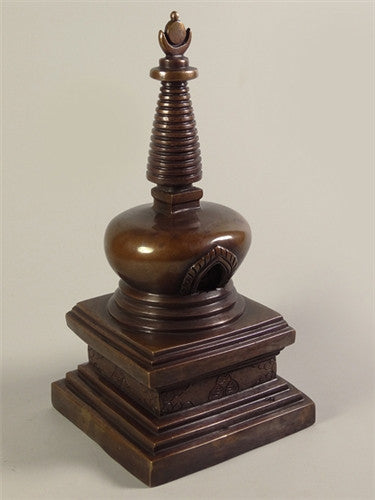 Hand Crafted Copper Stupa or Chorten