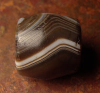 Ancient Indo-Tibetan Banded Agate Bead -17 mm
