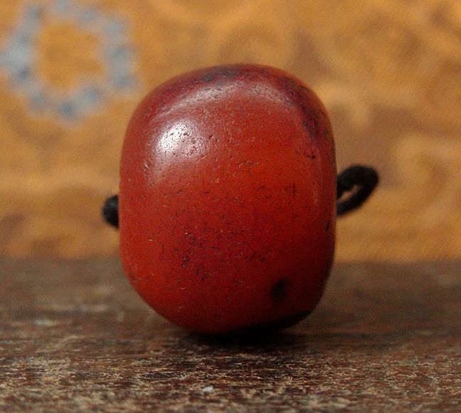 Antique Tibetan Amber Bead - 21.5 mm