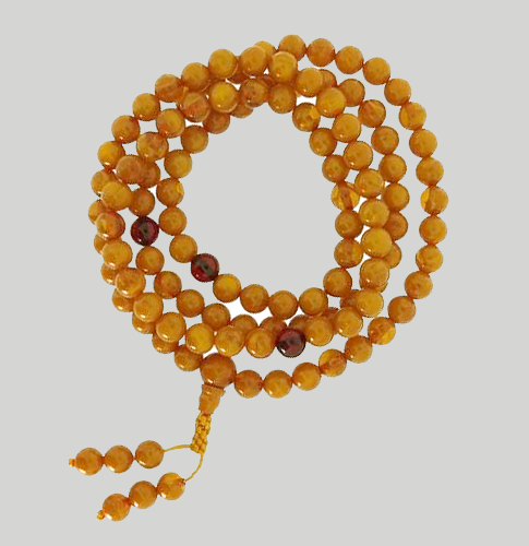 High Quality Faux Amber Mala - 8mm