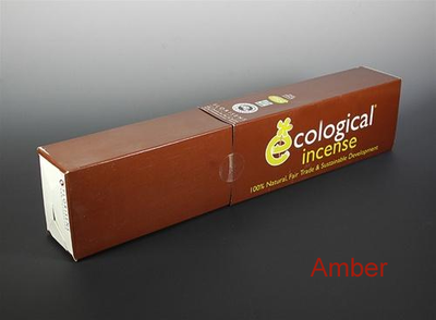 Amber Ecological Fair Trade Ayurvedic Indian Incense - 100 Sticks