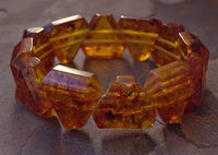 Chunky Faux Amber Bracelet - Triangular beads