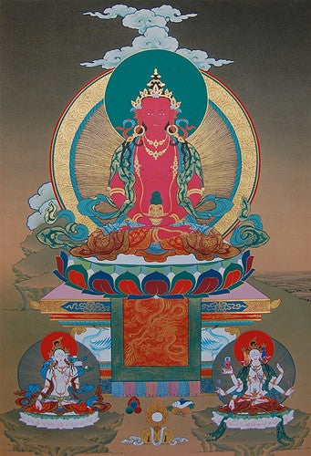 Amitayus Longevity Thangka