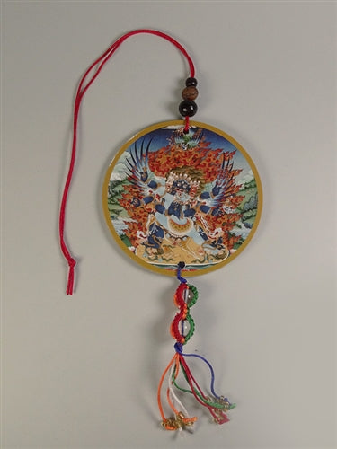 Vajrakilaya Deity Amulet with Vajra Knotwork - Mantra on Reverse