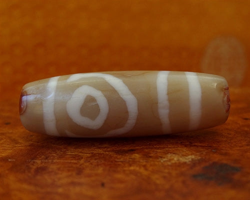 Ancient Two Eyed dZi Bead - 40.5mm