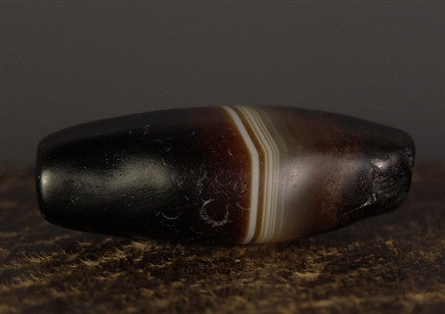 Ancient Indo-Tibetan Banded Agate Bead