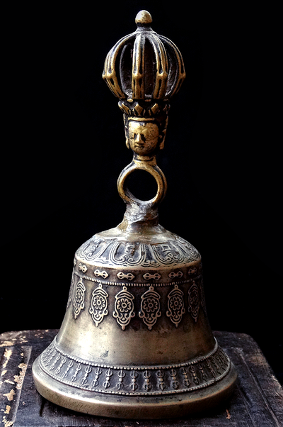 Antique Nine Prong Dharmachakra Bell - 18th/19th C