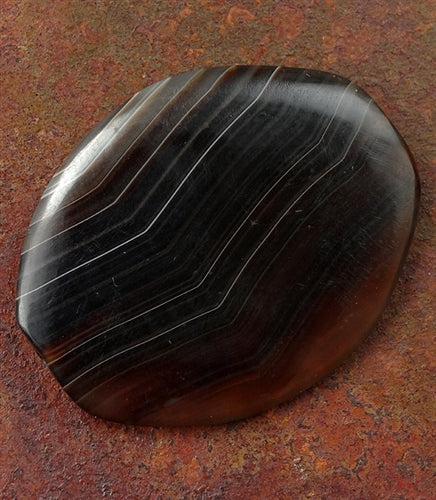 Rare Quality Agate Stone Bead - 42mm - Mesopotamian Replica