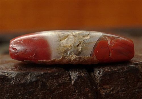 Ancient Pema Raka Bead with Crystalline Zone - 34mm