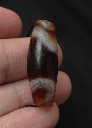 Ancient Indus Valley Bow Shaped Agate Bead - 34mm